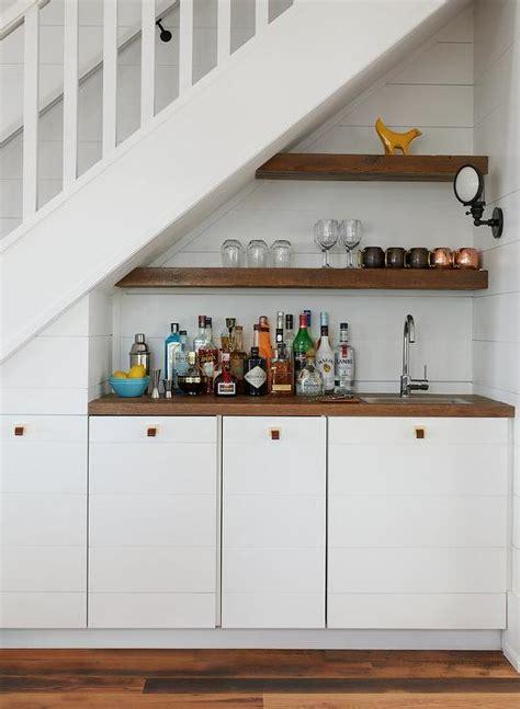 shiplap under bar shiplap staircase wall design ideas