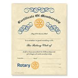 rotary certificate of appreciation template rotary customized certificate of membership rotary club