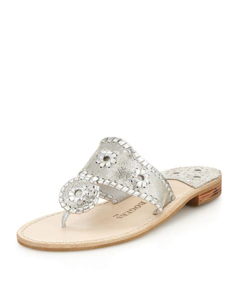 rogers sandals silver rogers whipstitch sandal cracked in silver