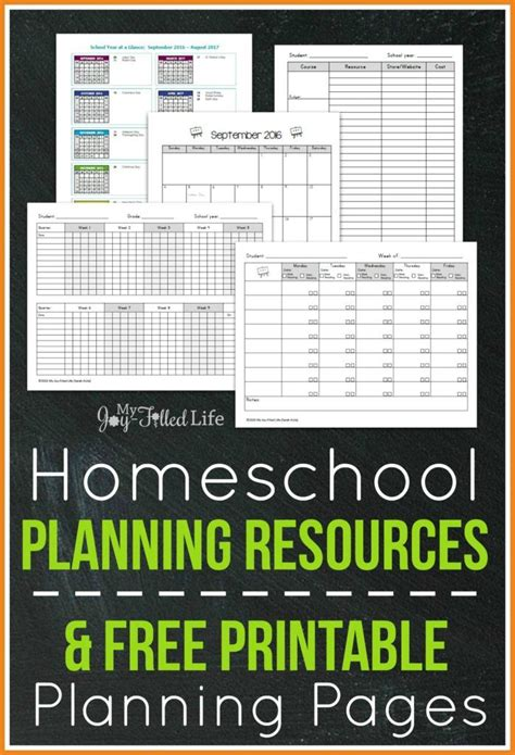 free printable homeschool teacher planner top homeschool planning resources free printable
