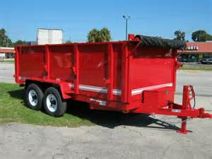High side low profile 14k dump trailers for sale
