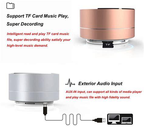Kualitas Terbaik Mini Bass Portable Bluetooth Speaker S08u mini portable bluetooth speaker bass a10 black