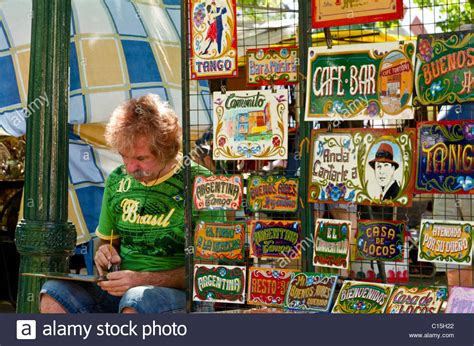 Souvenir Argentina Magnet Kulkas Buenos Aires souvenirs for sale in san telmo sunday market buenos aires stock photo royalty free image