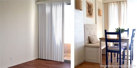 Dining Room Vertical Blinds How To Conceal Vertical Blinds With Curtains Smart Diy