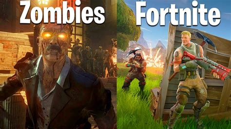 fortnite vs cod zombies youtubers vs fortnite