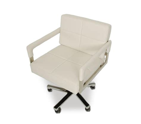 Dreamfurniture Com Alaska Modern White Leather Office Modern White Desk Chair
