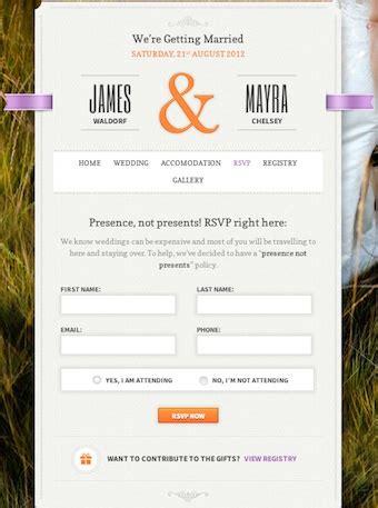 wedding rsvp website best wedding themes to create a wedding website