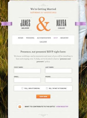 Best Wedding Themes to Create a Wedding Website