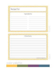 Drink Recipe Card Template by Its A Summer Cocktail Recipe Cards E1374198996926