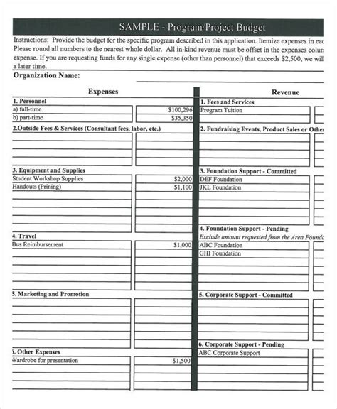 Program Budget Template 9 Award Certificates Free Sle Exle Format Free Premium Program Budget Template