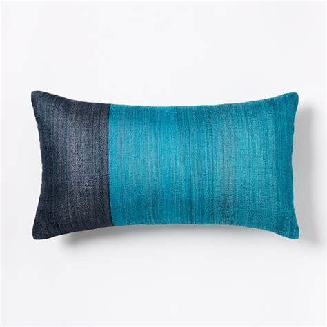 Silk Pillow by Sari Silk Pillow Cover Blue Teal West Elm
