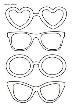 Printable Glasses Template Black And White Sunglass Frames Clip Art Slp Pinterest Clip Laser Cut Glasses Template