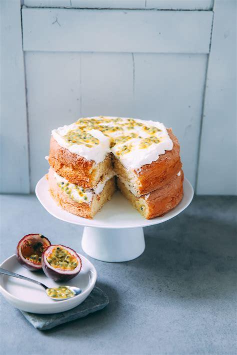 kuchen australien sponge cake mit maracuja suedaustralien zucker zimt und