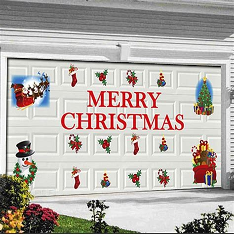 quick and easy christmas decorations magnetic garage door
