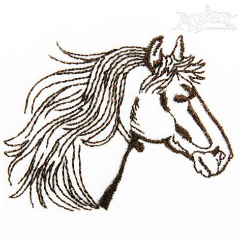 embroidery design horse hibiscus horse embroidery design
