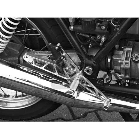 pedane per moto kit pedane arretrate per moto guzzi 850 le mans grigio