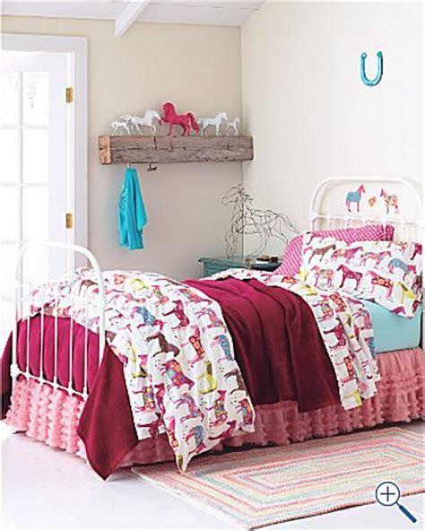 little girl comforters painted ponies bedding for little girls room from garnet