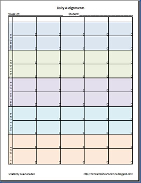 homeschool printable time sheets homeschooling hearts minds free daily assignment printable