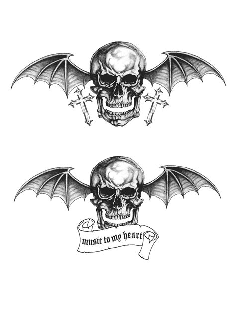a7x tattoo designs avenged sevenfold deathbat wallpaper 75 images