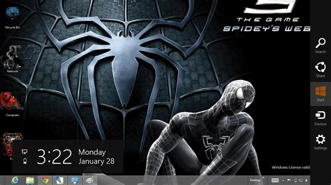 download spiderman themes for pc download gratis tema windows 7 black spiderman 3 theme