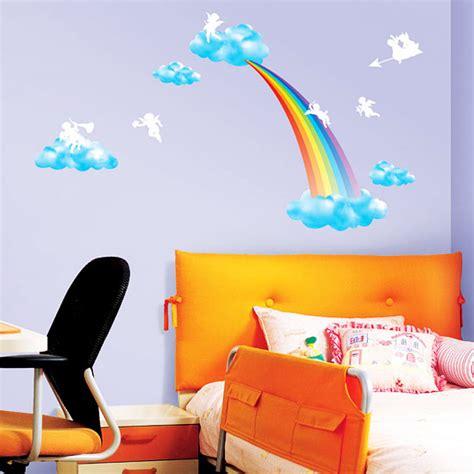 Wandtattoo Kinderzimmer Regenbogen by Wandsticker Wandtattoo Regenbogen Wolken Engel Wandsticker
