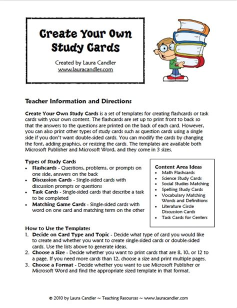 Create Your Own Study Cards