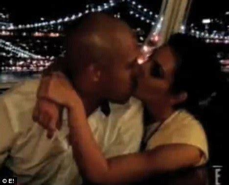 kim kardashian shares steamy clinch with bodyguard and