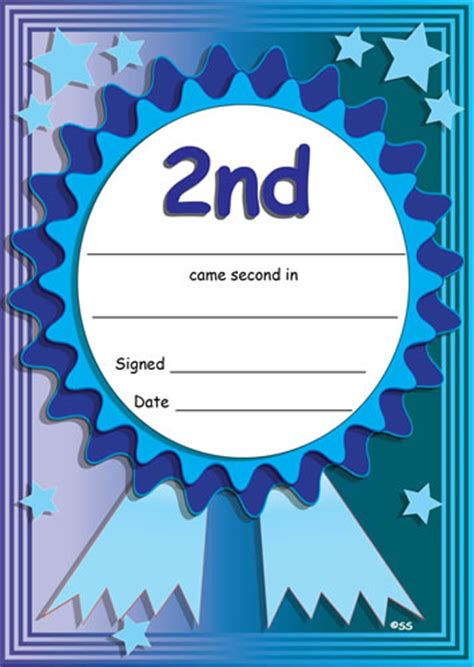 1st place certificate template free 2nd place sports certificates
