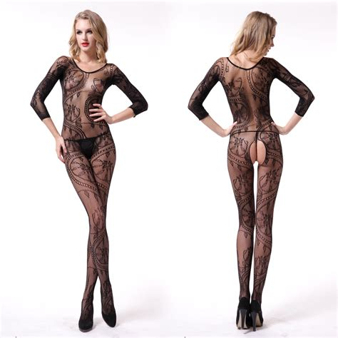 Bodystocking Crotchless High Quality Import Banyak Warna black open crotch bodysuit fishnet lace mesh bodystocking ebay