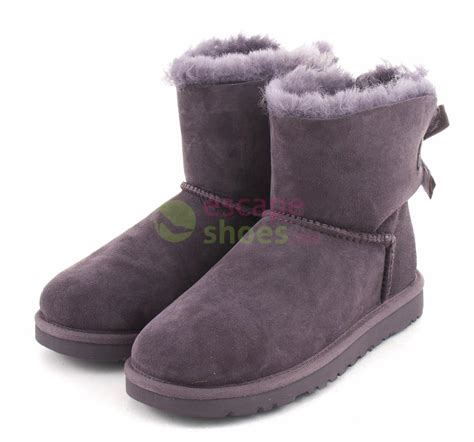 bow boots boots ugg australia mini bailey bow locomitive grey