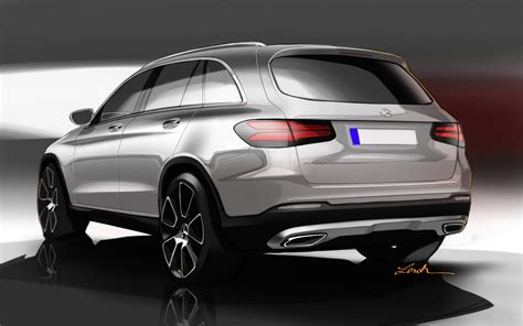 mercedes details all new glc crossover in 88 photos