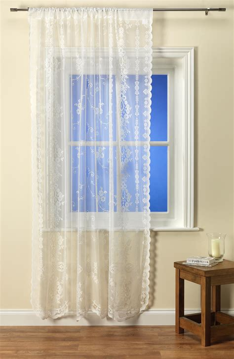panel net curtains chantilly ivory voile panel from net curtains direct