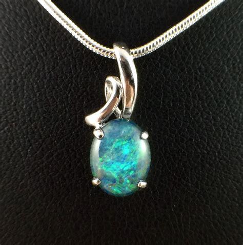 genuine lightning ridge triplet opal necklace pendant