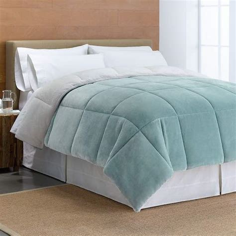 kohls reversible comforter kohl s cuddl duds cozy soft faux minx down alternative