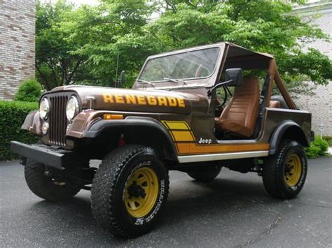 brown jeep cj7 renegade purchase used 1976 cj5 jeep renegade restored in volcano