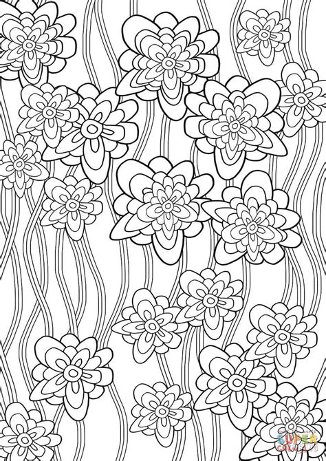 floral pattern coloring page  printable coloring pages