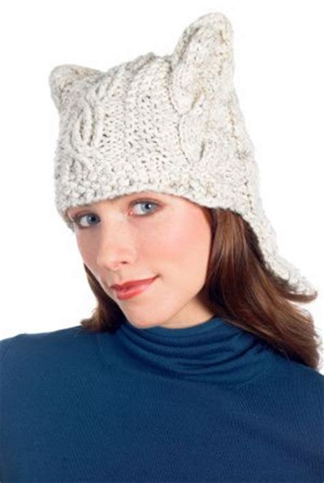 cat ear knit hat pattern cabled hat pattern knit cats easy patterns