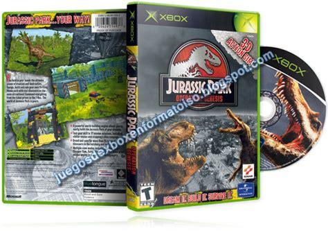 jurassic park operation genesis xbox 360 juegos de xbox en formato iso juegos con quot j quot