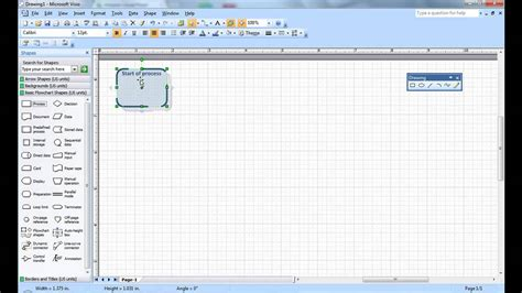 visio add on creating a simple visio flow chart microsoft visio