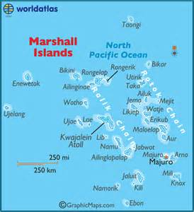 marshall islands large color map