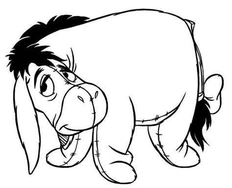 Eeyore Coloring Book Coloring Pages Eeyore Coloring Page
