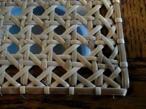 chair caning tip of the day video on weaving the binder