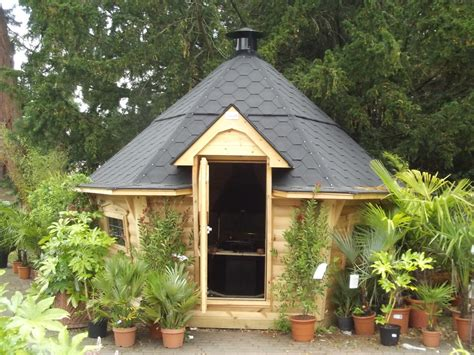 trentham garden centre summer house shed  day
