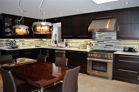 Corner Kitchen Island by Toronto And Thornhill Custom Modern Kitchen Design