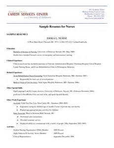 Resume Nursing by Pediatric Nursing Resume