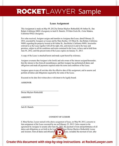 Lease Assignment Request Letter assignment of lease form lease agreement assignment with sle