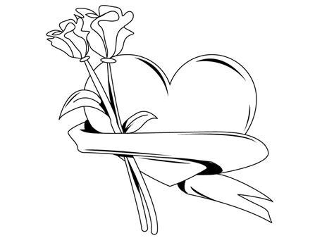 imagenes de flores sin pintar 74 corazones de amor para pintar imprimir descargar y