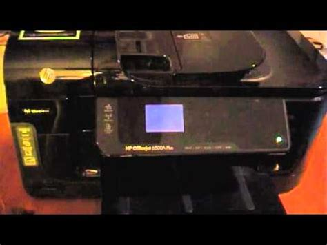 Resetting Hp Officejet 6500a Plus | hp officejet 6500a plus service and reset menu youtube