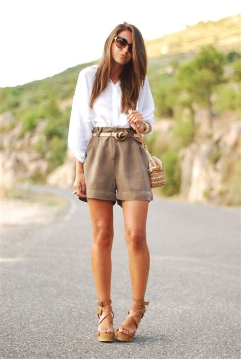what to wear with high waisted shorts 100