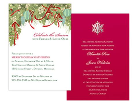 corporate invitations, corporate events, holiday parties